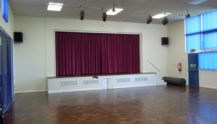 Eyres Monsell hall and stage