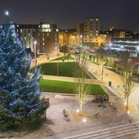 Jubilee Square at Christmas