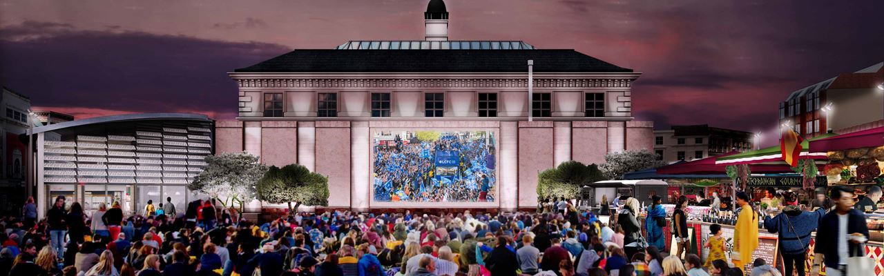 New market - artist impression of big screen