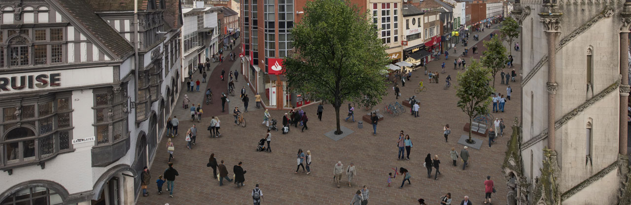 London Road artist's impression 1 - view from Saxby Street junction
