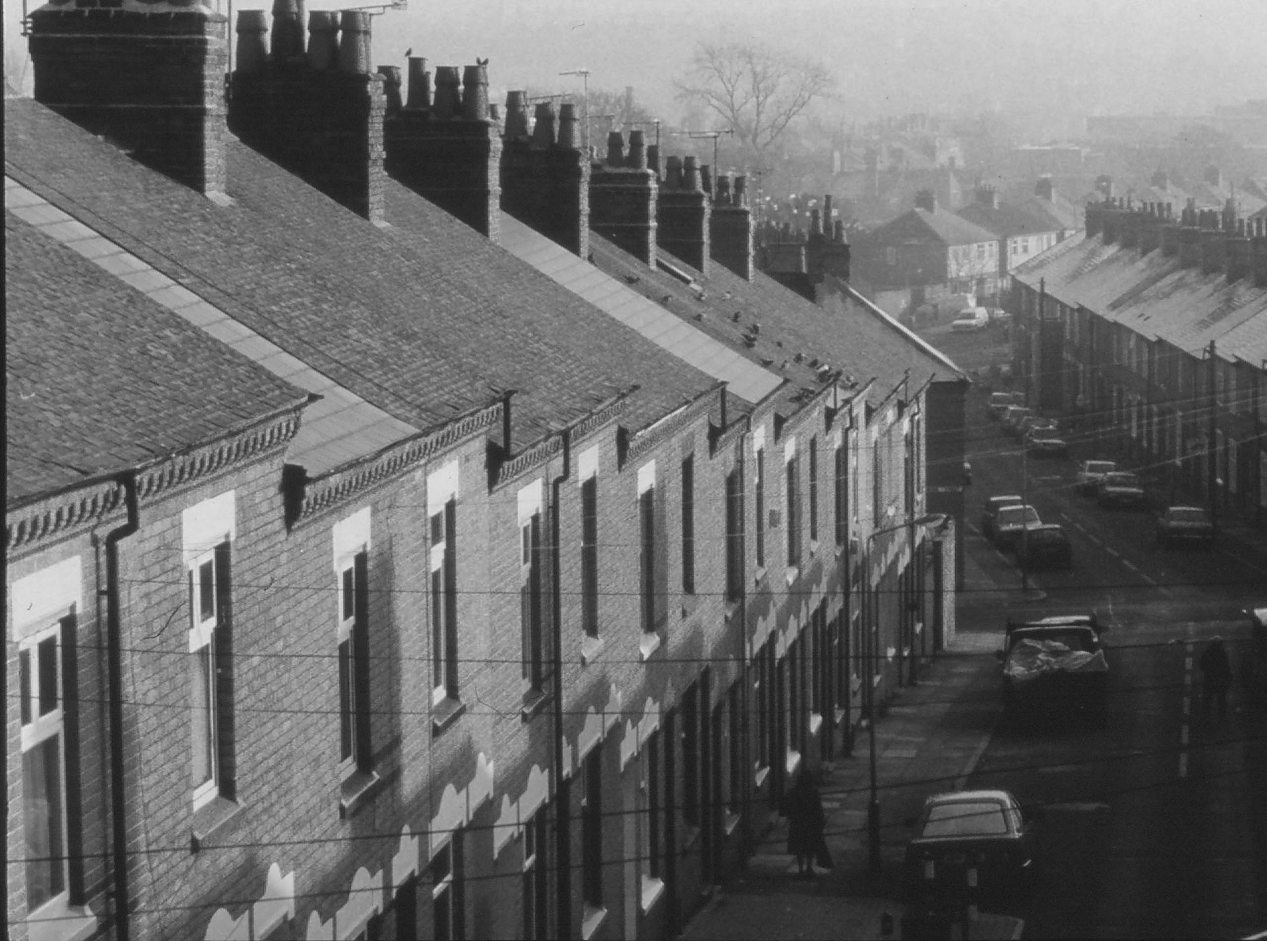2001 - Housing, Clarendon Park black and white